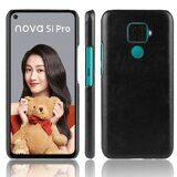 Кожаная накладка-чехол для Huawei nova 5i Pro (черный)