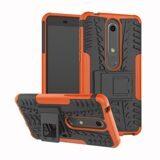 Чехол Hybrid Armor для Nokia 6.1 (черный + оранжевый)