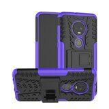 Чехол Hybrid Armor для Motorola Moto G7 (черный + фиолетовый)