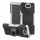 Чехол Hybrid Armor для Sony Xperia 10 (черный + белый)