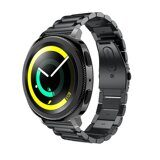 Стальной браслет Solid Stainless для Samsung Gear Sport / Gear S2 Classic / Galaxy Watch 42мм / Watch Active (черный)