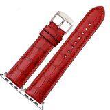 Кожаный ремешок Crocodile Texture для Apple Watch 44 и 42мм (красный)