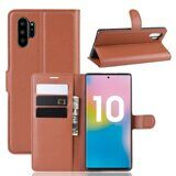 Чехол для Samsung Galaxy Note 10+ (Plus) (коричневый)