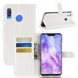 Чехол с визитницей для Huawei Nova 3i / P Smart+ (Plus) (белый)