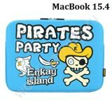 Чехол ENKAY Pirates Party для MacBook Air / Pro 15.4 (голубой)