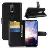 Чехол с визитницей для Nokia 6.1 Plus (черный)